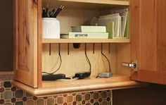Charging Station in Kitchen cabinet