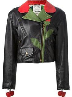 Moschino Vintage 'Flower' biker jacket