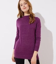 61c8cb6337341 Heathered Funnel Neck Tunic Sweater Jeans Pants, Dress Pants, Shirt Dress,  Funnel Neck