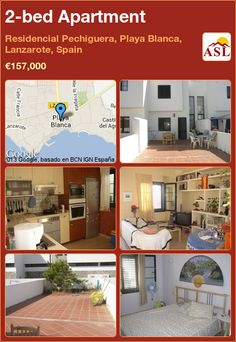 2-bed Apartment in Residencial Pechiguera, Playa Blanca, Lanzarote, Spain ►€157,000 #PropertyForSaleInSpain