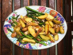 Roasted Fingerlings & Asparagus with Honey Balsamic Vinaigrette