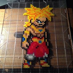 Super Saiyan Broly Dragon Ball perler beads by mastablasta3