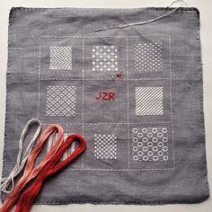 Embroidery Darning Sampler stitchalong – nearly finished!