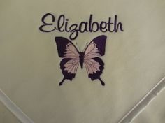 Custom Personalzied Butterfly Fleece Baby by RiginalsByRuth, $70.00 ($6 shipping)