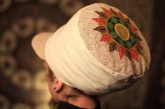 Dreadbag  natural mandala pattern dreadlocks cap by WuSquared