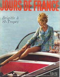 Brigitte Bardot à St-Tropez - Jours de France n°513, 12 septembre 1964