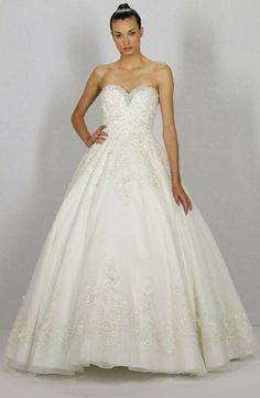 Dennis Basso - Sweetheart Ball Gown in Beaded Embroidery