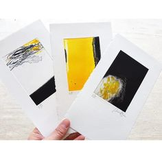 This set of 3 original #monotype #prints is perfect as a delicate art gift or for starting a new #printmaking collection and gallery. Printmaking is a long experimental process to create unique hand made editions of prints. #abstract