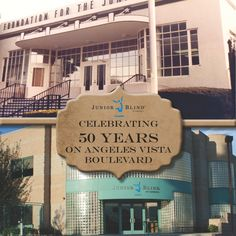 Junior Blind is celebrating 50 years at its location on Angeles Vista Boulevard in Los Angeles, California!  Tune into http://www.juniorblind.org/50years Monday, July 28 through Friday, August 1, 2014 as the memories are unveiled page by page.