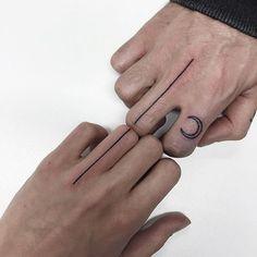 tatuajes minimalistas pareja