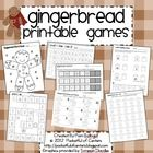 This is a SWEET collection of printable Gingerbread themed math and literacy games for Pre-K.  The graphics on the printables are all black and whi...