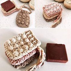 Crochet Gifts, Cute Crochet, Cute Crafts, Yarn Crafts, Crochet Mandala Pattern, Crochet Patterns, Crochet Scrubbies, Soap Making Recipes, Crochet Home Decor