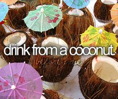 BUCKET LIST: Drink from a coconut.
