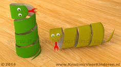 Slang van wc rol - Knutsels Voor Kinderen - Leuke Ideeën om te Knutselen met Duidelijke Uitleg