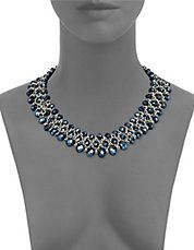 Bead and Chain Collar Necklace