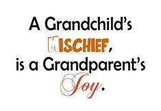 A grandparent's joy ...