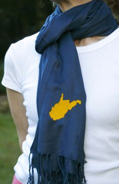 Game Day Scarf! Cute for #WVU fans! @Susan Caron Caron Caron Caron Caron Caron Stumpp - West Virginia University #mountaineers #gameday