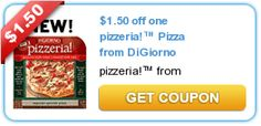 1.50/1 pizzeria!™ Pizza from DiGiorno = $2.38 at Target!!