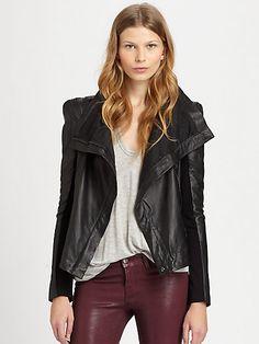 BCBGMAXAZRIA - Orson Leather Jacket