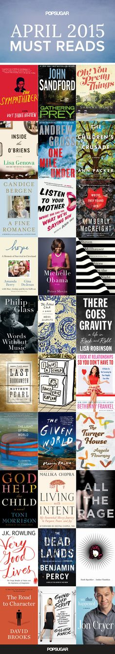 *Stock your bookshelves with our April must reads! Check out the best books coming out this month, including brand-new fiction, mysteries, memoirs, and more.