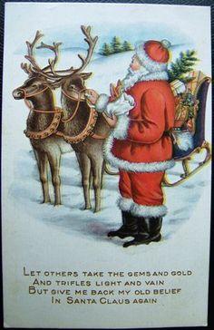 Look what I found on @eBay! http://r.ebay.com/JmdnRj Vintage WHITNEY MADE SANTA CLAUS REINDEER CHRISTMAS EMBOSSED POSTCARD