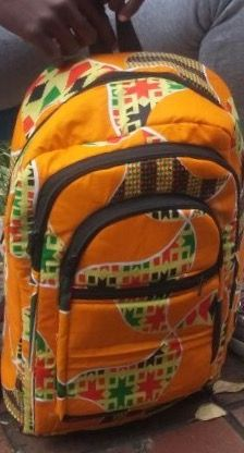African print traditional Backpacks