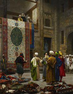El Vendedor de alfombras en El Cairo. Jean-Leon Gerome, 1887. Minneapolis Institute of Arts. Minneapolis, Estados Unidos.   http://www.musee-orsay.fr/es/eventos/en-cartelera.html?zoom=1&tx_damzoom_pi1%5BshowUid%5D=122420&cHash=7a929319e1