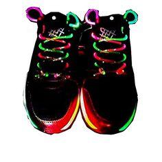 Xiaokesong® Ein Paar Glowing Flash LED Blinklicht Leuchtende Schuhbänder Schnürsenkel (Farbig) - http://uhr.haus/xiaokesong-3/farbig-xiaokesong-ein-paar-glowing-flash-led
