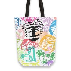 Faces Totebag by Zuza (@zzuza) from $29.50 | miPic #bag #art #digitalart #colorful #faces