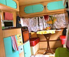 Pretty restored 1960 leisure travel trailer.