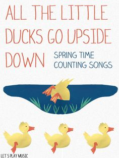 All The Little Ducks Go Upside Down -  such cute actions!  Great for going swimming!       Lets Play Music
