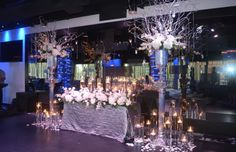 Custom Wedding Ceremony Design created at The Mezz, August 2012 by Lana with Fairbanks Florist,  Orlando, FL.