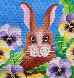 bunnies with lilies - Google Search