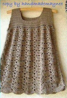 Relasé: Crochet: vestito all'uncinetto per la bambina - schema