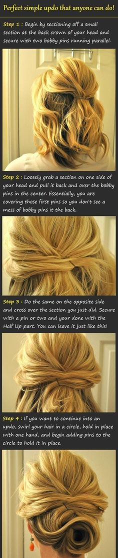 This saved my life! I did not know how to style my new short hair fpr a wedding! I so have to try