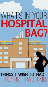 While He Was Napping: What's in my Hospital Bag... This Time