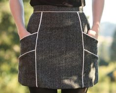 Chalk Lines Mini Skirt | We've completely 'fall'en in love with this fall mini skirt!