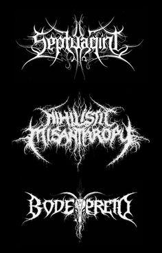 black metal type by christophe szpajdel