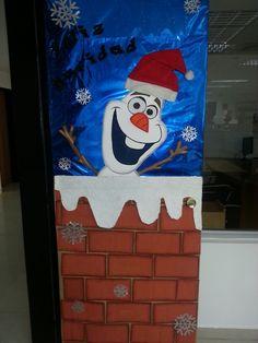 Puerta navideña de Olaf                                                                                                                                                                                 Más