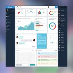 New-dashboard #tablet #mobile #ui #design pinterest.com/alextcsung/
