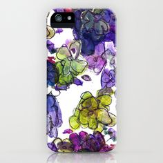 painted florals iPhone Case by denj - $35.00