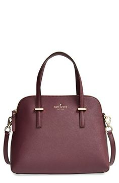 kate spade new york 'cedar street - maise' satchel (in the season's hottest color!) // #giftsforher #burgundy