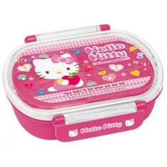 Hello Kitty Bento Box Click and Lock Pink