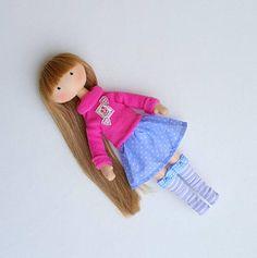 Blond Doll Dress Up Doll Rag Doll Handmade Doll Fabric Doll