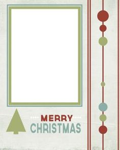 Create Your Own Christmas Photo Card With These Free Templates: Lovely Little Snippets' Free Christmas Card Templates