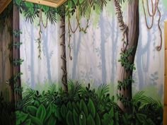 Rainforest mural | This mural was painted with a large spray… | Flickr