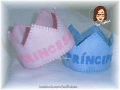 Beautiful felt crowns . Ideal to highlight birthdays in children's parties, or for photographic newborn or smashcake trials.