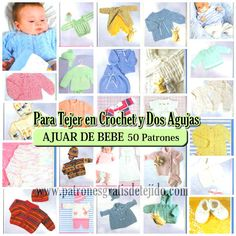Revista de tejido para bebes con paso a paso y moldes Baby Knitting Patterns, Knitting For Kids, Loom Knitting, Crochet Book Cover, Crochet Books, Knit Crochet, Bebe Baby, Kids Rugs, Mayo 2016