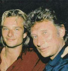 Johnny et son fils David. Johnny Haliday, Tennessee, Laetitia, Christian Audigier, Rock N Roll, Boss, Idole, Stars, Couples