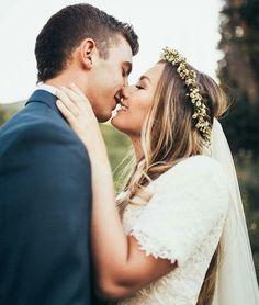 modest wedding dress with half sleeve from alta moda. --(modest bridal gown)--